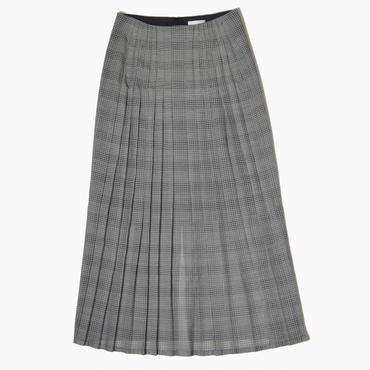 See through front pleated skirt * Glencheck