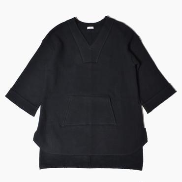 V neck long swet * Black