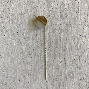 Sand stone american pierced earring