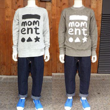 MOMENT(モーメント) MOMENT ロゴ スウェット CHACOAL  (130-150) mmt-sw10