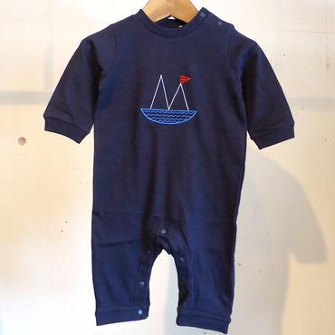 MOMENT(モーメント) 名入れ刺繍ロンパース M
