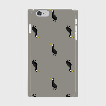 MOMENT BIRD GRAY 側表面印刷スマホケース 6Plus/6sPlus
