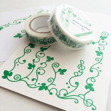 マスキングテープ&ポストカードセット[緑]