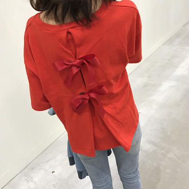 ★再入荷★大人可愛いバッグリボンTシャツ・スウェット(3color)【クリックポスト送料無料】