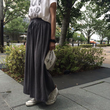 薄手ふんわりマキシスカート(2color)