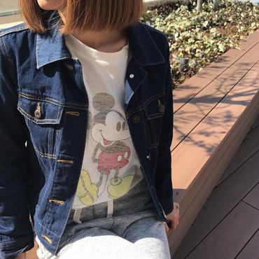 再・再入荷!ミッキープリントロングTシャツ(4color)【クリックポスト送料無料】