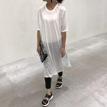 スリット入りシンプルTシャツワンピース/ロングTシャツ(3color)【クリックポスト送料無料】