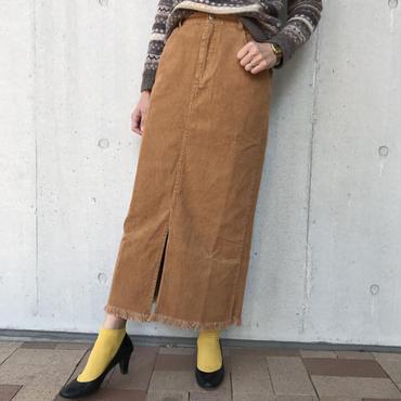 コーデュロイフリンジロングスカート(2color)【クリックポスト送料無料】