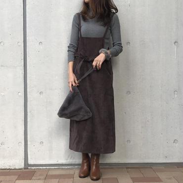 コーデュロイエプロンサロペットスカート(3color)【クリックポスト対象商品】