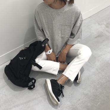 ビッグシルエットポケット付きスウェットTシャツ(4color)【クリックポスト送料無料】