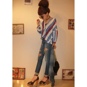 カラフルシャツ  BLU