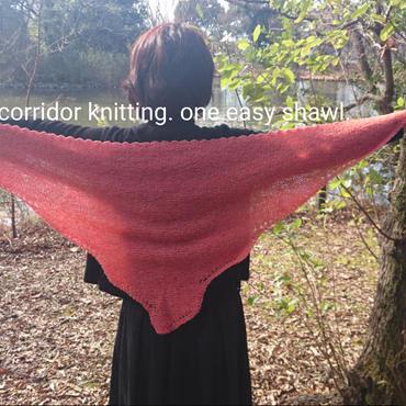 one easy shawl (編み物パターン)