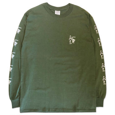 "CREIGHT ""BEST HOLIDAY SPOT L/S TEE"" / ARMY GREEN"