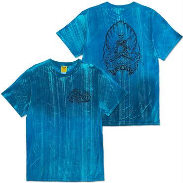 "D.Y.E×CREIGHT×野坂稔和 ""波乗仙人図"" Tie-Dye TEE / BLUE DYE"