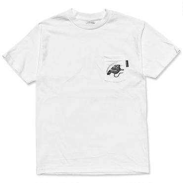 "【再入荷】CREIGHT×野坂稔和 ""SKATE RAT"" CustomPocket TEE / WHITE"