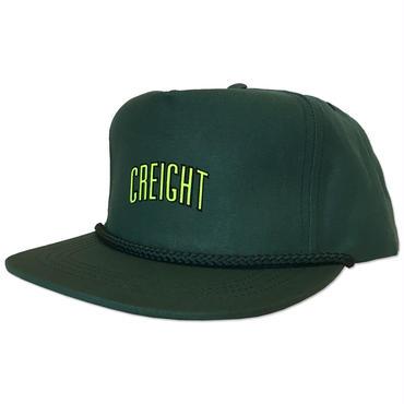 """CREIGHT  """"LOGO CAP"""" / D.GREEN"""