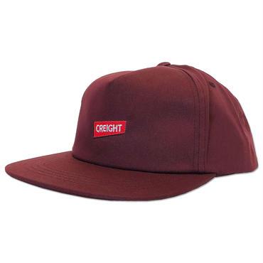 """【再入荷】CREIGHT """"UNSTRUCTURED CAP"""" / MAROON"""