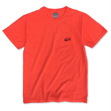 "CREIGHT""LOGO GARMENT TEE"" / NEON RED ORANGE"