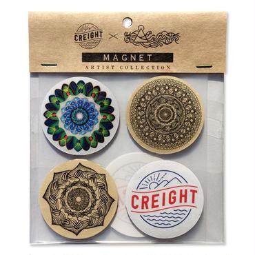 "CREIGHT×戸崎拓海 ""Magnet 4Pack(ステッカー付)"""