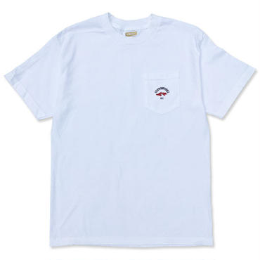 "CREIGHT CUSTOM WORKS ""POCKET TEE"" / WHITE(BLUE×RED print)"