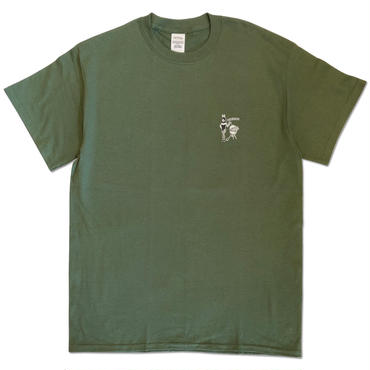 "CREIGHT ""BEST HOLIDAY SPOT TEE"" / ARMY GREEN"