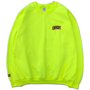"""CREIGHT""""LOGO Crew 8oz""""/SAFETY GREEN"""