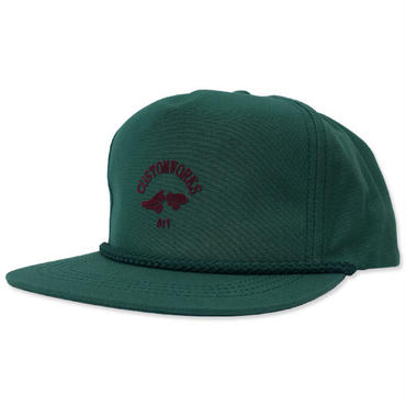"【LimitedEdition】CREIGHT CUSTOMWORKS ""5PANEL CAP"" / D.GREEN"