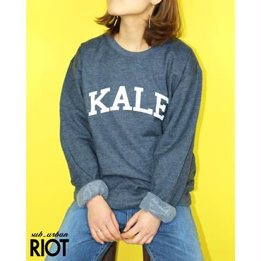 SUB URBAN RIOT/サブアーバンライオット KALE WILLOW SWEAT SHIRT カールプリントスウェットシャツ ネイビー