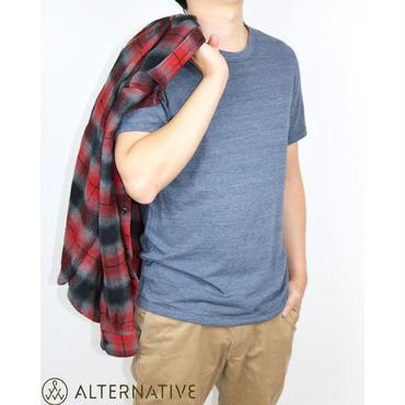 Alternative Apparel(オルタナテ ィブアパレル)Eco-Jersey Crew  T-Shirt クルーネックT ネイビー