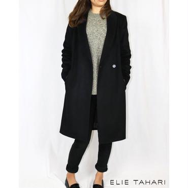 ELIE TAHARI(エリータハリ)Reefer Wool-Blend Coat ウールブレンドコート