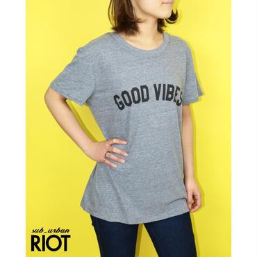 SUB URBAN RIOT/サブアーバンライオット GOOD VIBES TEE グッドバイブスプリントTシャツ