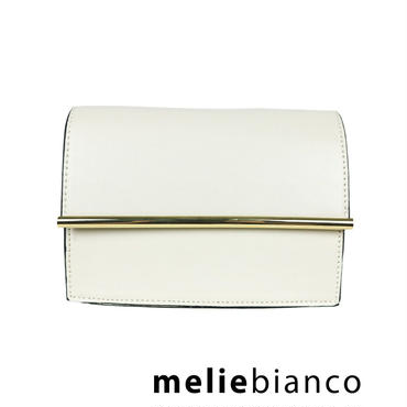 melie bianco Corrine Metal Bar Frap Shoulder Bag