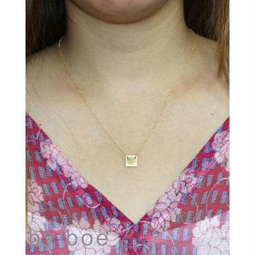 By Boe DELICATE SQUARE NECKLACE デリケートスクエアネックレス