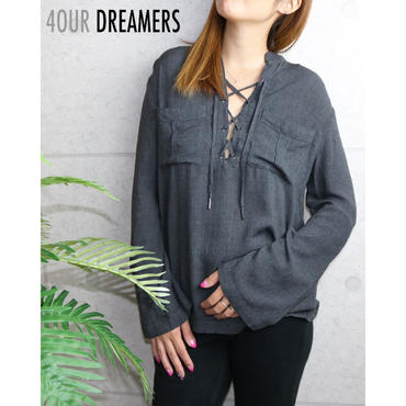 4OUR DREAMERS(フォーアワードリーマーズ)LACE‐UP SHIRTS レースアップシャツ