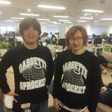 カセットスプロケットTシャツ(長袖)※ブラック