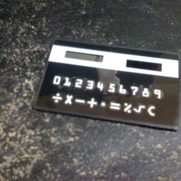 デザインカリキュレーター(電卓)名刺サイズです!ブラック