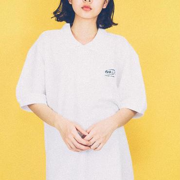 dabbot silhouette polo- shirt (white)