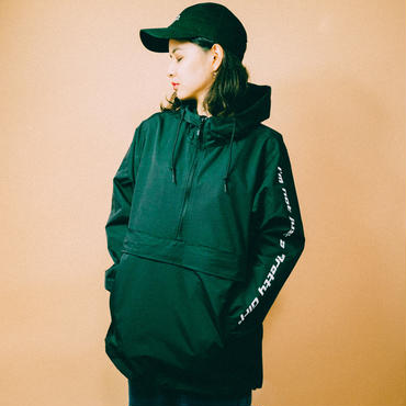 ESSENTIAL LOGO ANORAK(black)