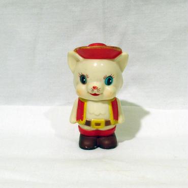 長靴を履いた猫 ソフビ貯金箱 赤版