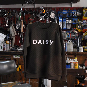 DAISY FELT LETTERED QUILT SWEAT