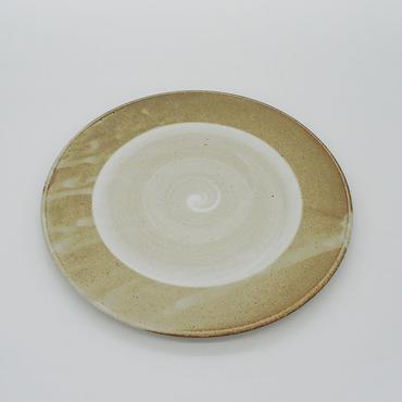 【パンとごはんと...】まるい縁取りの陶器 PLATE M gray