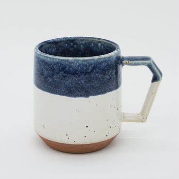 【C006】CHIPS mug. PREMIUM white-navy drop