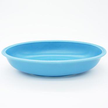 【M028sx】パンとごはんと... リムドット オーバルボウル L sax-blue