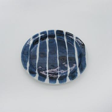 【M018a】パンとごはんと...  しましまのお皿 PLATE S 太駒筋