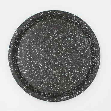 【CP002bw】CHIPS plate. SPLASH black-white