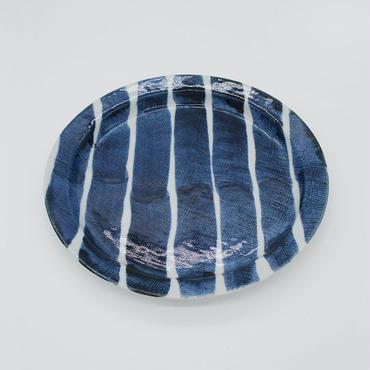 【パンとごはんと...】しましまのお皿 PLATE L 太駒筋