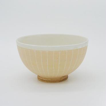 【パンとごはんと...】掻き落としの陶器 RICE BOWL cream