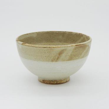 【パンとごはんと...】まるい縁取りの陶器 RICE BOWL gray