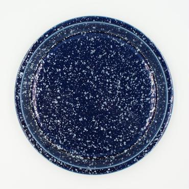 【CP002nw】CHIPS plate. SPLASH navy-white