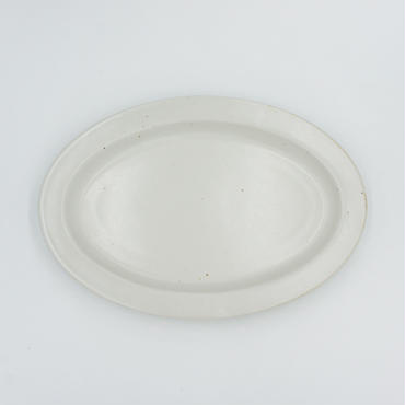 【AP004wh】Ancient Pottery OVAL PLATE white